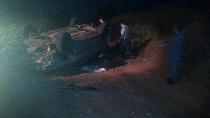 Capotamento deixa quatro pessoas feridas perto de Magda