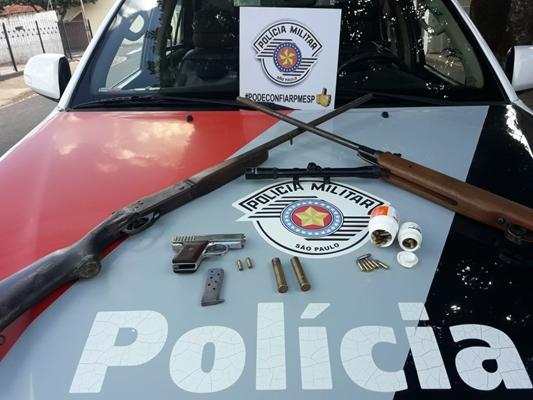 POLÍCIA MILITAR PRENDE HOMEM COM ARMAS EM VOTUPORANGA