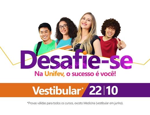 VESTIBULAR UNIFEV NO DIA 22 - em Votuporanga e Iturama
