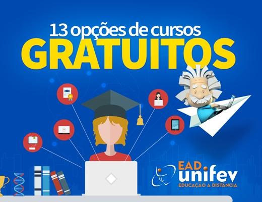EAD Unifev oferece 13 opções de cursos gratuitos à comunidade
