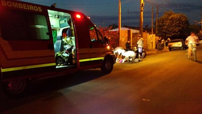 Colisão de moto e bike fere ciclista em Votuporanga