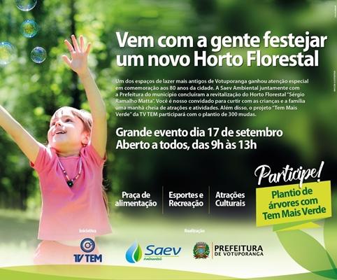 HORTO FLORESTAL: EVENTO ESPECIAL DE REABERTURA DA RESERVA ECOLÓGICA