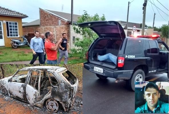Nos detalhes o carro e a vítima do crime (Imagens +Buritis)
